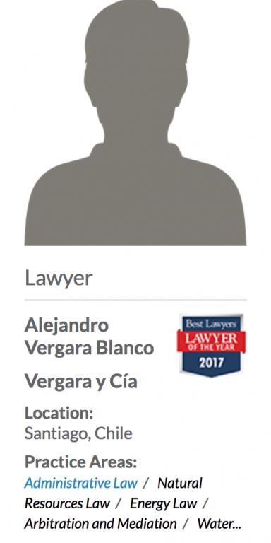 Best Lawyers Alejandro Vergara 1