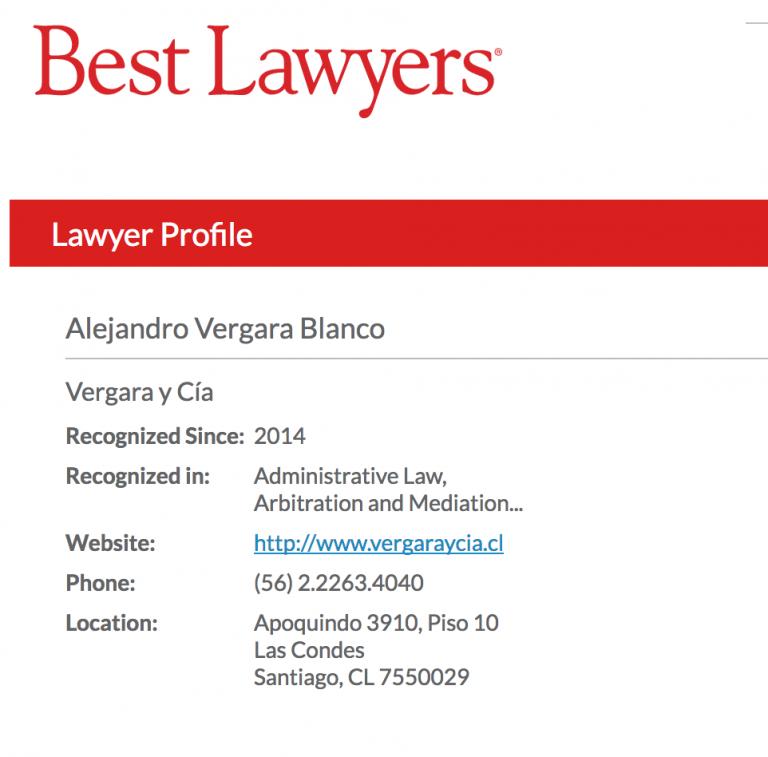 Best Lawyers Alejandro Vergara
